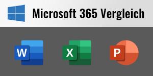 Microsoft 365 im Versionsvergleich